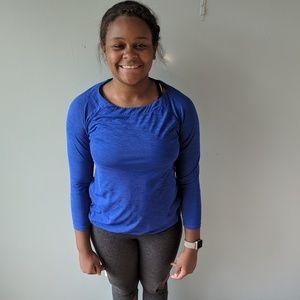 Athleta Cobalt blue long sleeve shirt